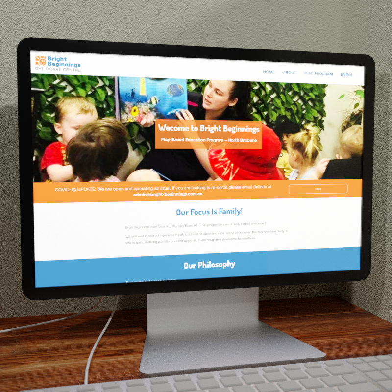 Bright Beginnings Web Design Feature Image
