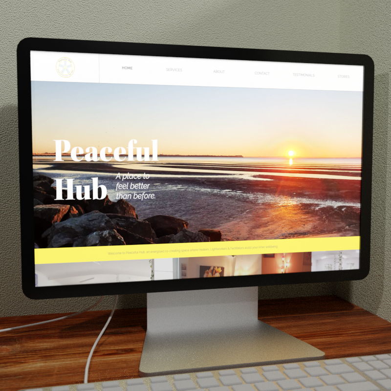 Peaceful Hub Web Design Feature Image