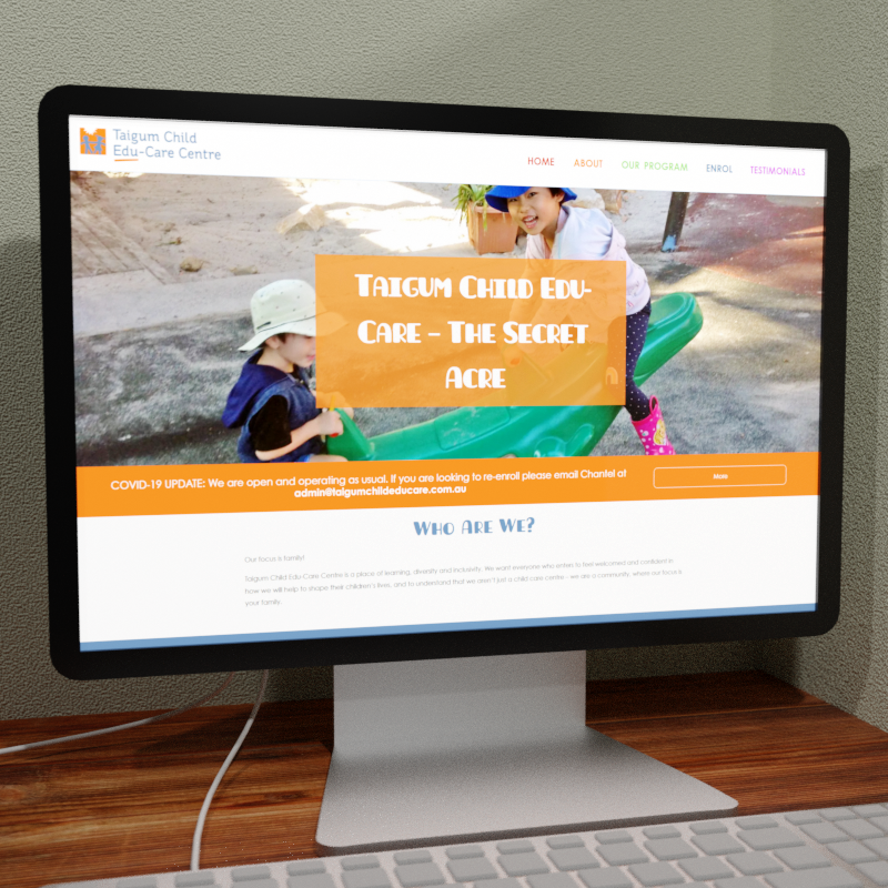 Taigum Child Edu-Care Web Design Feature Image