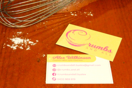 Crumbs And All Business Cards With Cake