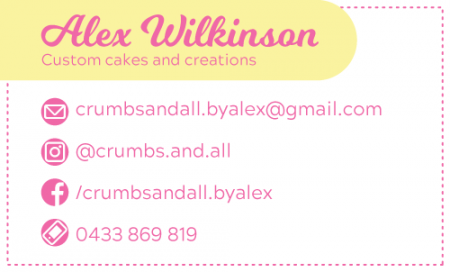 Crumbs And All - Business Card Back