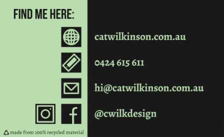 Cat Wilkinson Business Card Back