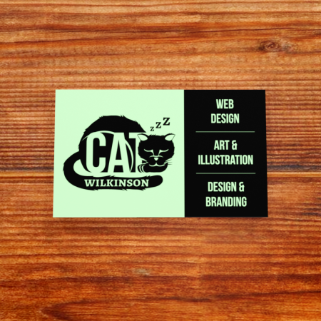 Cat Wilkinson Business Card Showcase front