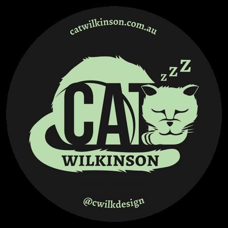 Cat Wilkinson logo sticker black