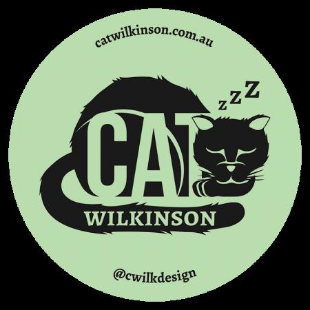 Cat Wilkinson logo sticker green